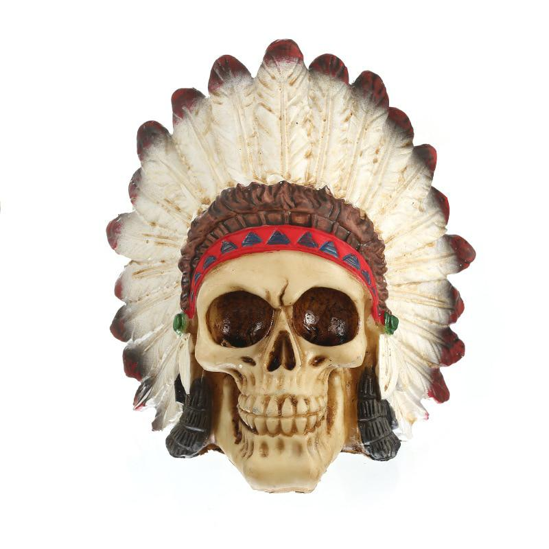 7225e967eac MRZOOT Resin Craft Statues For Decoration Indian Style Skull Creative  Statue Sculpture Home Accessories