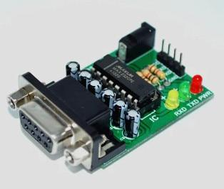 Simple AVR programmer using MAX232 and RS232