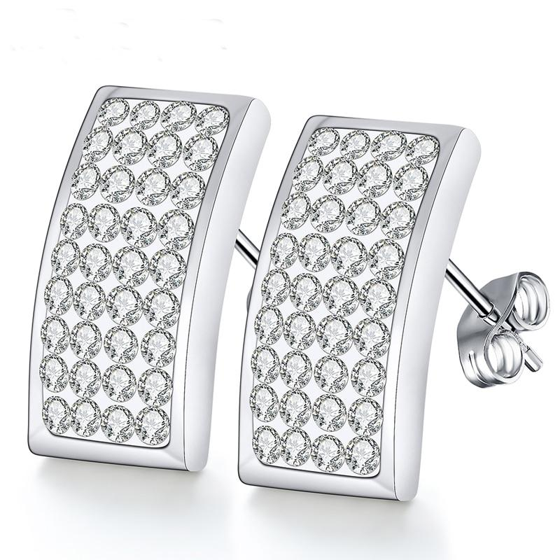 fahion jewelry 2018 fashion crystal earrings stud earrings