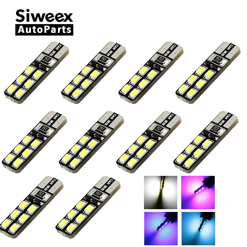 10 teile/los T10 WEIß 12-2835/3528 SMD LED CANBUS OBC ERRO