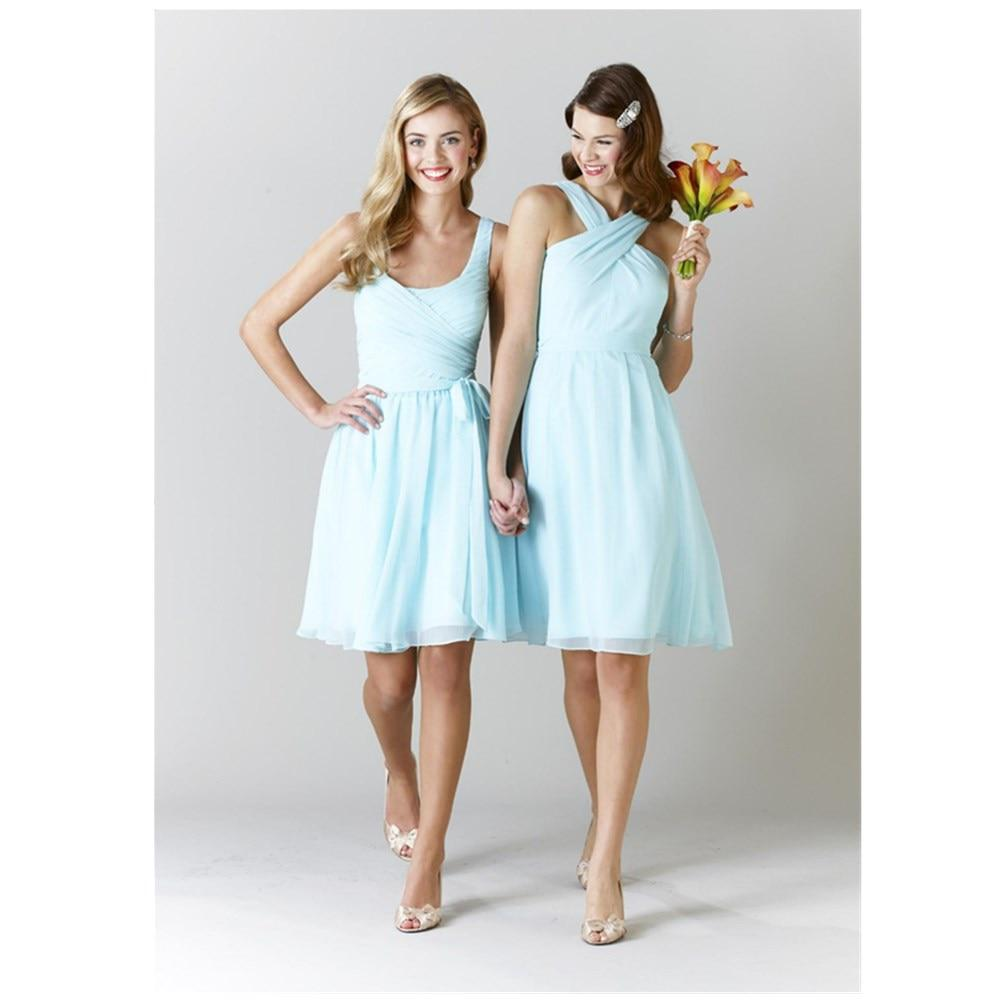 light blue dress for wedding high quality halter light blue bridesmaid dresses knee 5514