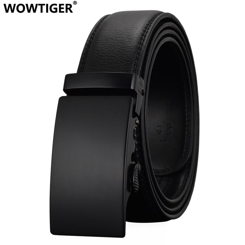 WOWTIGER Fashion Designers Men Automatic Buckle Leather luxury Belts Business