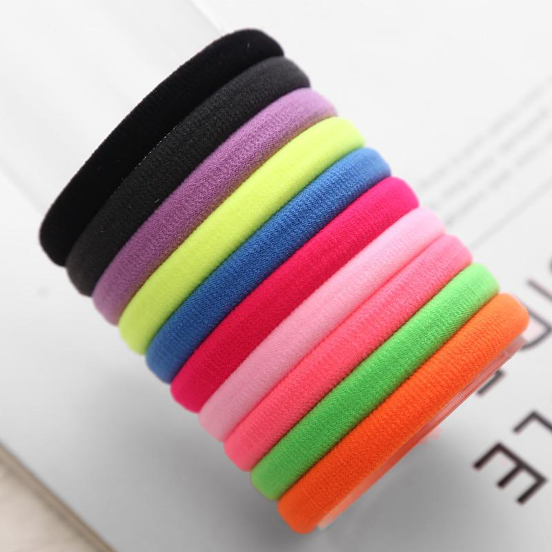 Fashion 10pcs/lot Big Size Candy Colored Quality Elastic Ponytail Holders