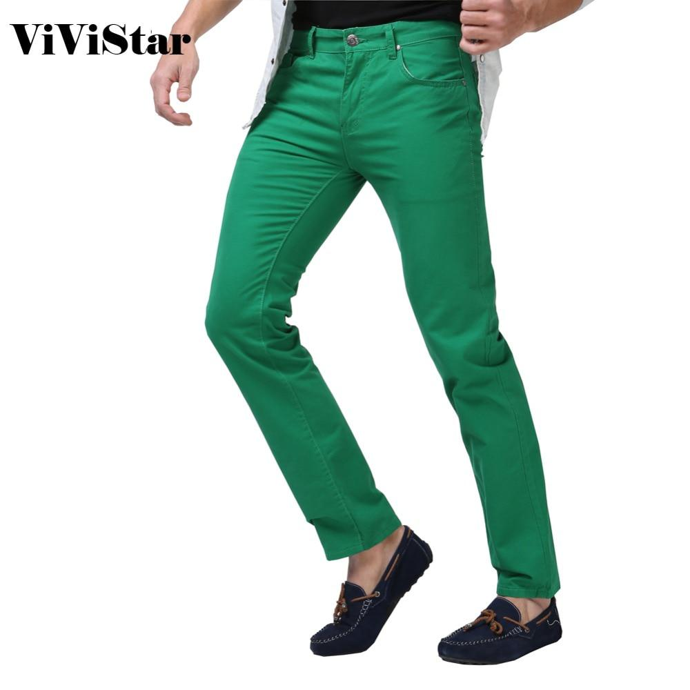 Men Jeans Solid Candy Color 2017 New Spring Summer Autumn