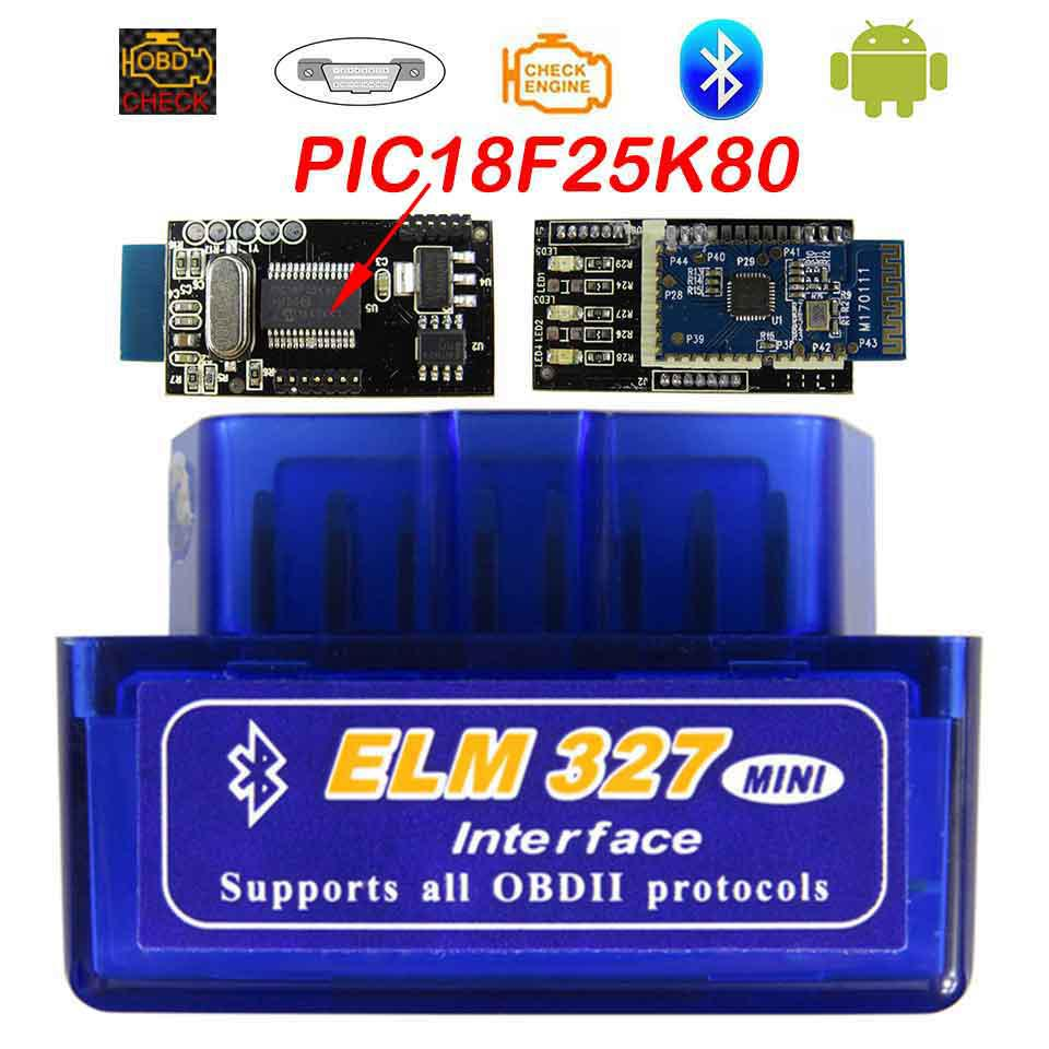 Super Mini Elm327 Bluetooth OBD2 V1.5 Olmo 327 V 1.5