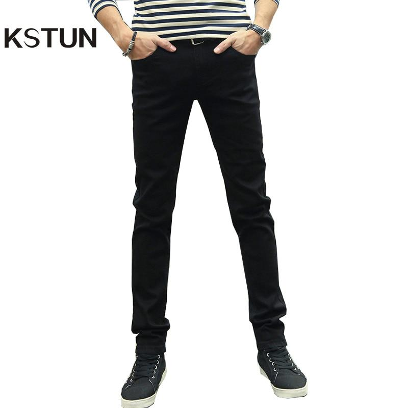 KSTUN Hommes Jeans Crayon Pantalon Stretch Hiver Occasionnel Mince Jambe