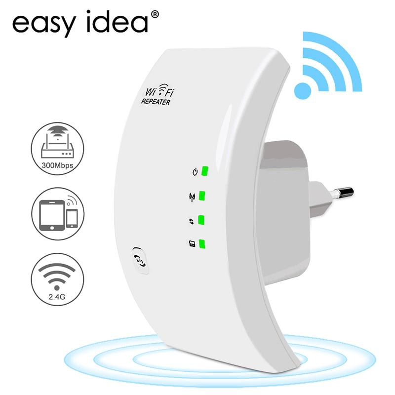EASYIDEA Wireless WIFI Repeater 300Mbps Network Antenna Wifi Extender Signal