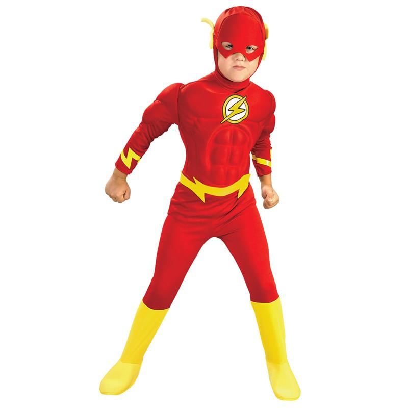 Venta caliente Boy Los Músculos Flash Superhero Fancy Dress Kids