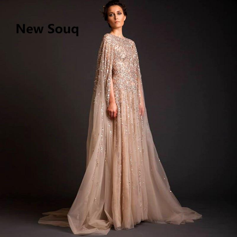 9e7e369ad1d9 Lebanon Robe De Soiree Longue Evening Dresses Beads Saudi Arabia Long Prom  Dress Abaya Dubai Kaftan