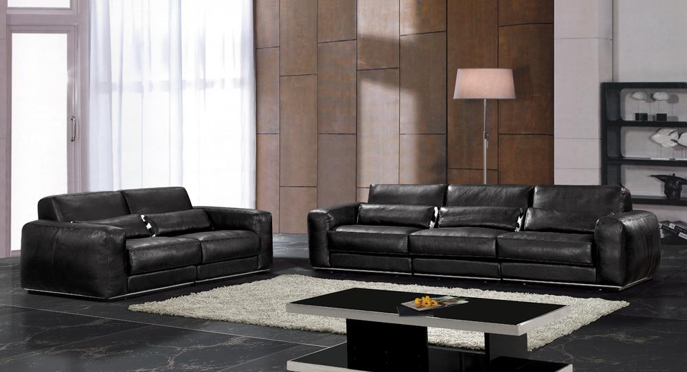 Hot sale modern chesterfield genuine leather living room - Living room furniture for sale cheap ...