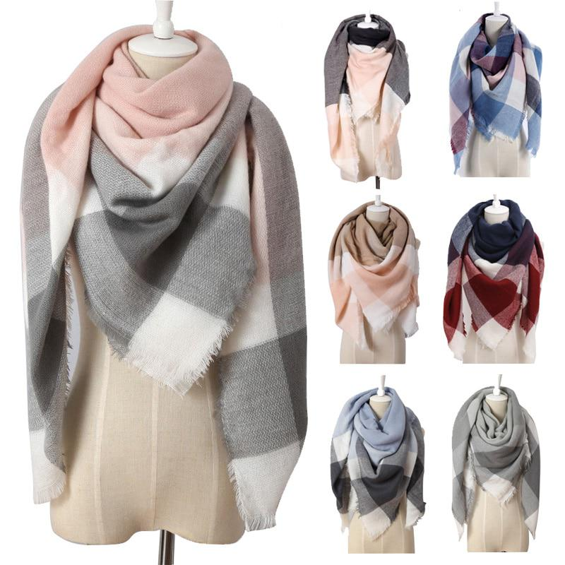 2017 Winter Brand Women Cashmere Triangle Scarf Fashion Warm in