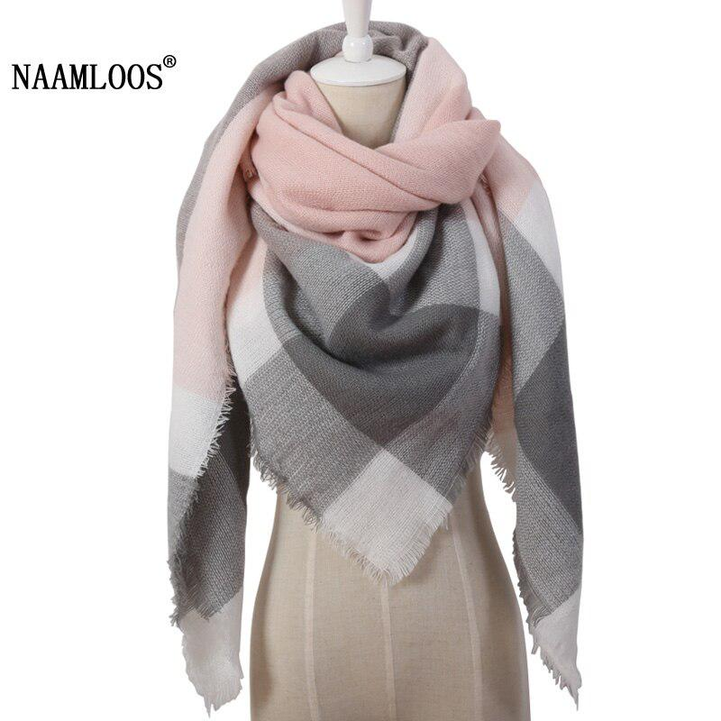 2017 Winter Brand Designer Triangle Scarf Women Shawl Cashmere Autumn