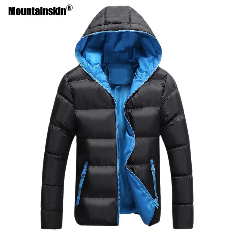 Mountainskin 5XL Men Winter Casual New Hooded Thick Padded Jacket