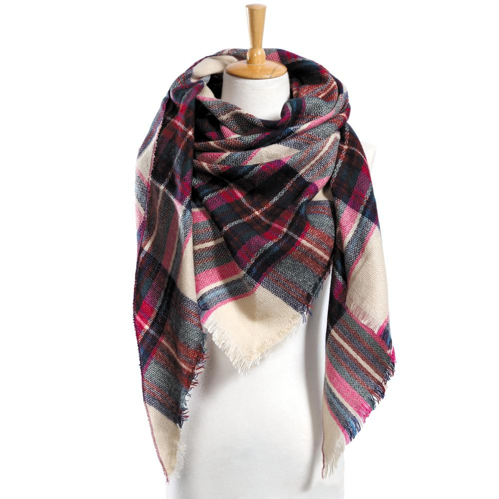 Top quality Winter Scarf Plaid Scarf Designer Unisex Acrylic Basic