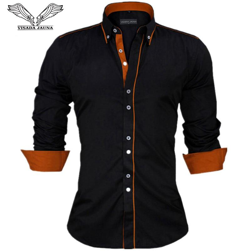 VISADA JAUNA Men Shirts Europe Size New Arrivals Slim Fit