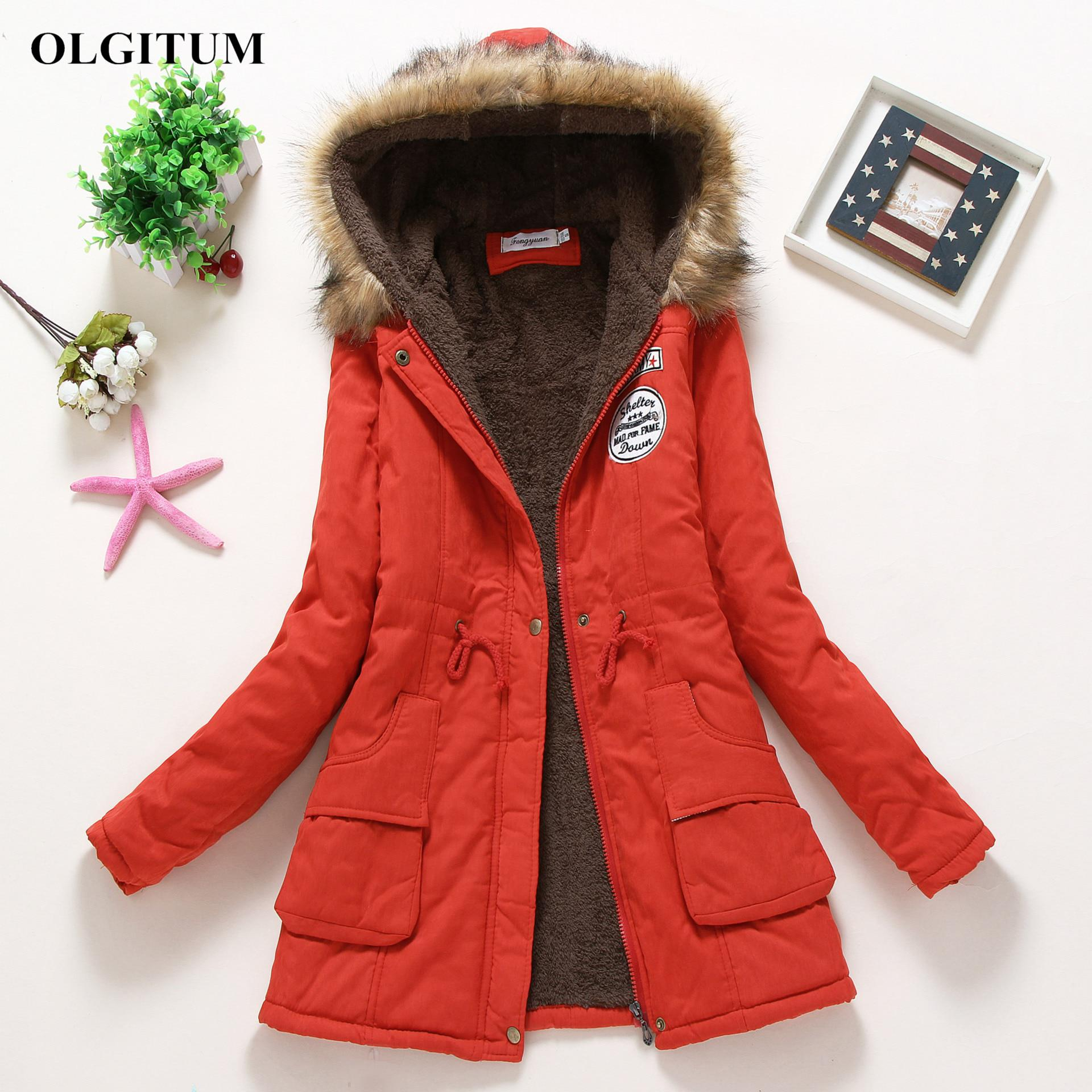 2017 New Parkas Female Women Winter Coat Thickening Cotton Winter