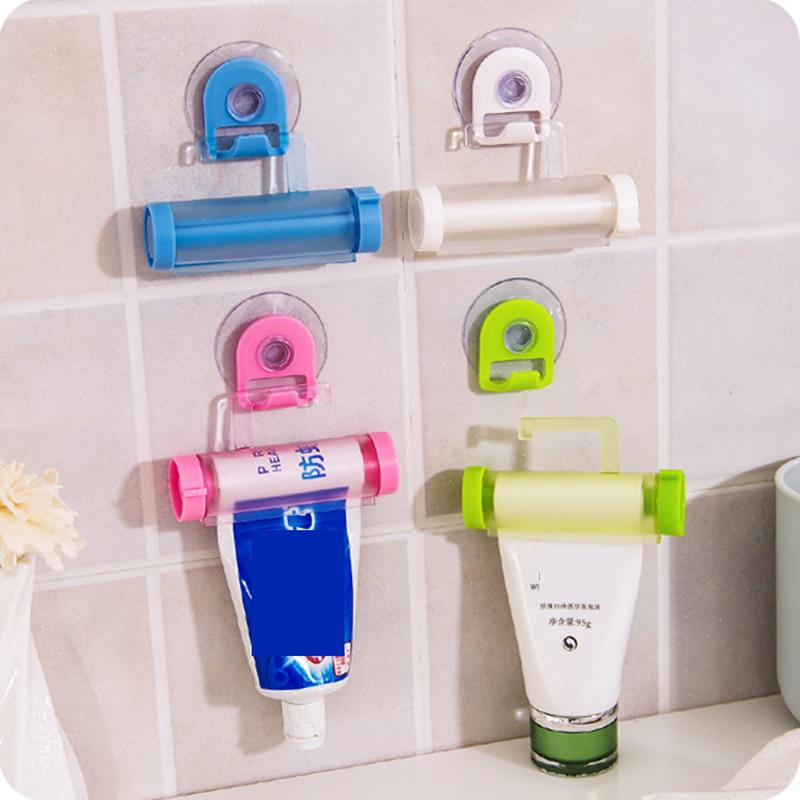 1 pz creativo rotolamento squeezer dentifricio tubo partner sucker hanging