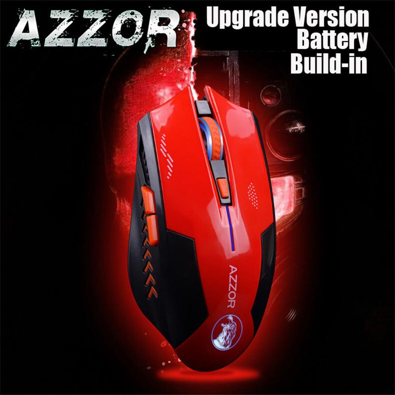 AZZOR Recargable Wireless Laser Gaming Mouse Ratones 2400 DPI 2.4G