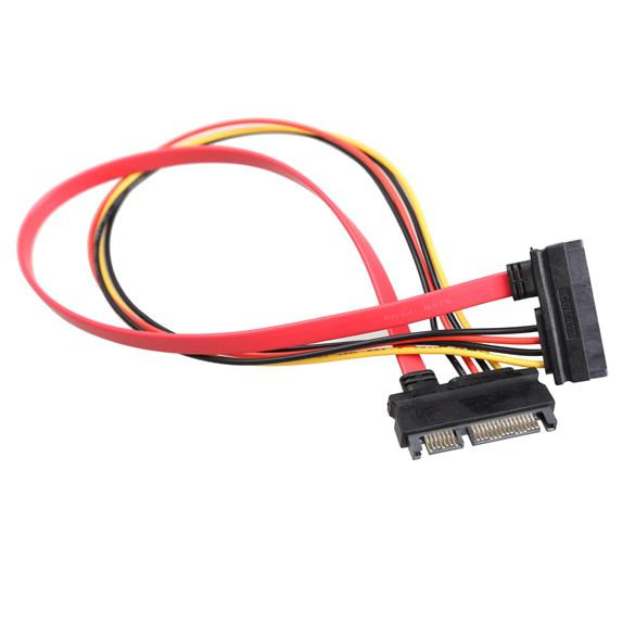 30CM New 22 Pin Male to Female 7+15 pin SATA