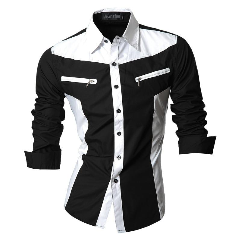 2017 Spring Autumn Features Shirts Men Casual Jeans Shirt New