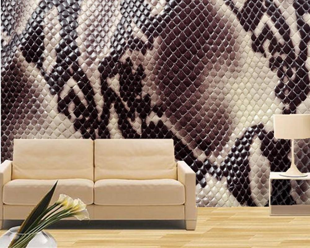 Custom large murals texture snakes wallpapers ktv bar for Custom mural cost