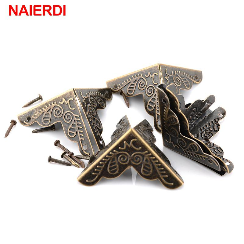 30PCS NAIERDI 3.6x2.4cm Luggage Case Box Corners Brackets Decorative Corner