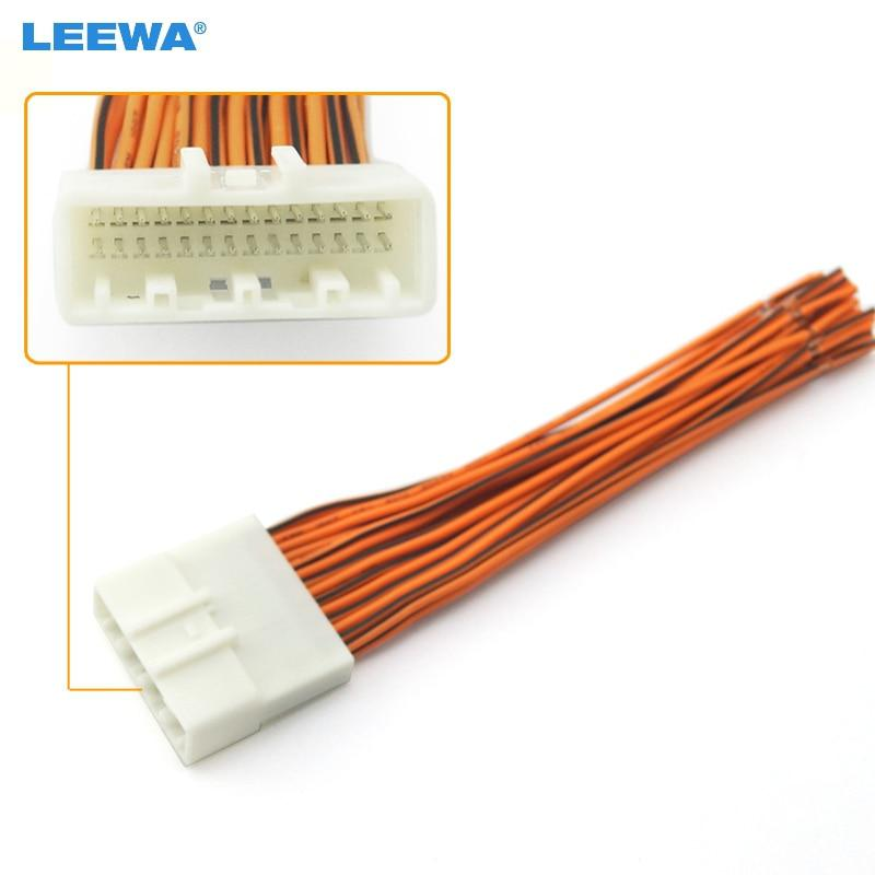 Leewa Car Radio Stereo Wiring Harness Adapter Plug For