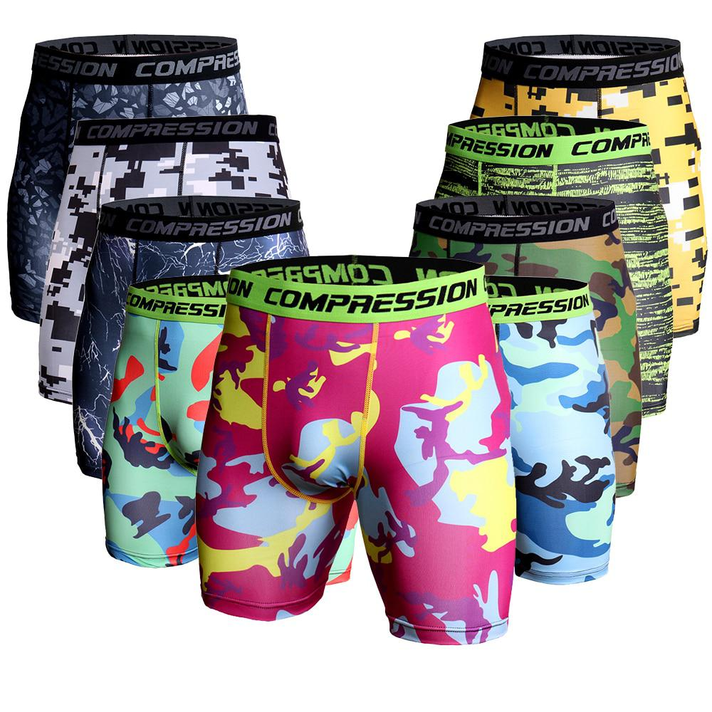 Mens Compression Shorts 2016 Estate Camouflage Bermuda Uomini di Fitness