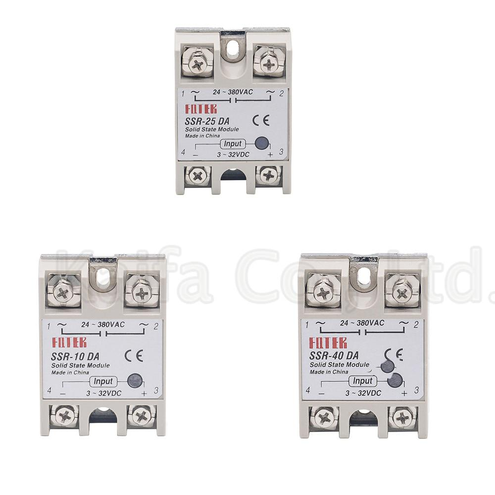1pcs solid state relay SSR-25DA 25A 5-24VDC TO 24-380V AC