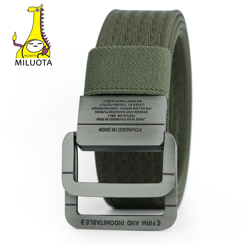 [MILUOTA] 2016 Military Equipment Tactical Belt Man Double Ring Buckle