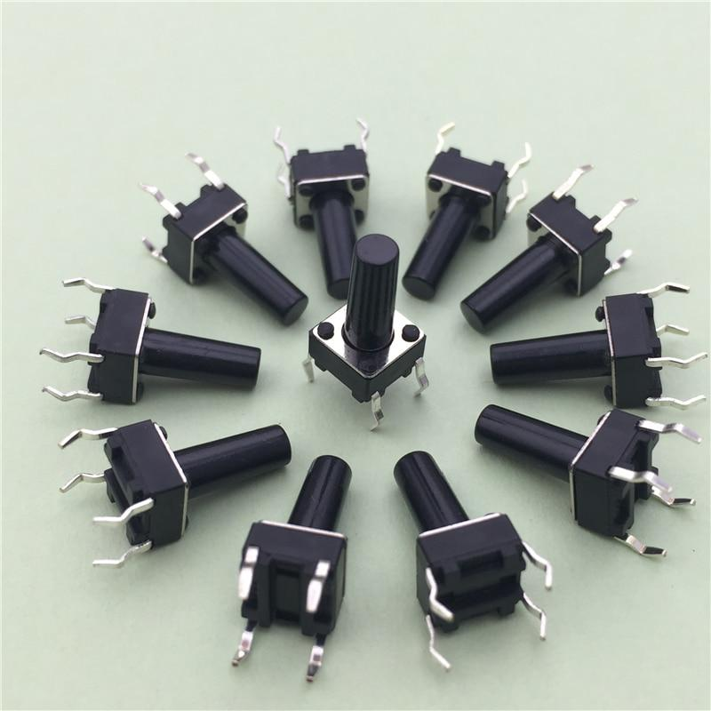 50 teile/los 6x6x12 MM 4PIN G95 Tactile Tact Taster Mikroschalter