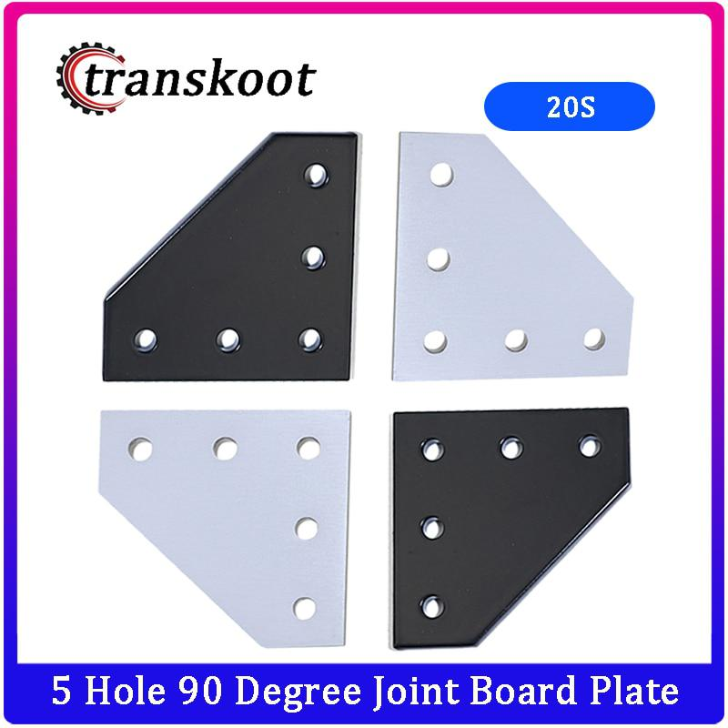 5 Hole 90 Degree Joint Board Plate Corner Angle Bracket
