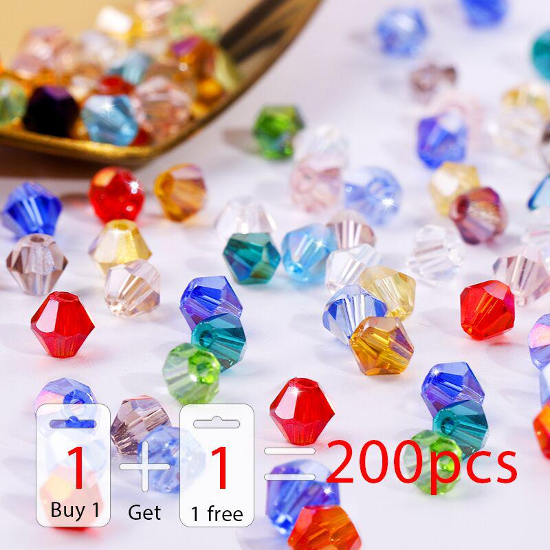 Buy 1 and get 1 free 100pcs Colorful 4mm Bicone