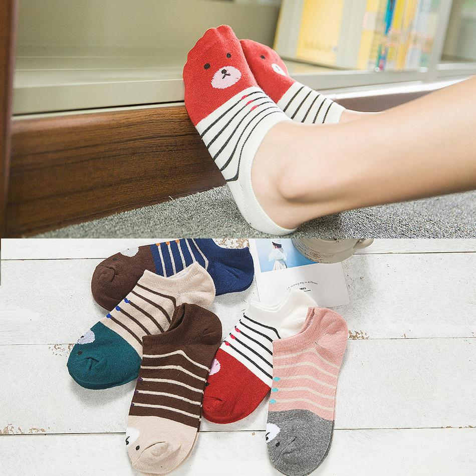 Warm comfortable cotton girl women's socks ankle low female invisible
