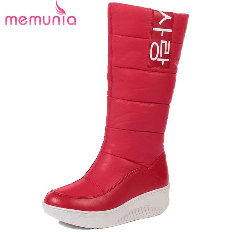MEMUNIA SIZE 35-44 Ladies snow boots wedges heels slip on