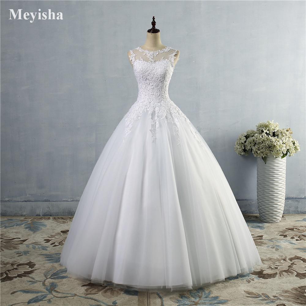 ZJ9036 2016 lace White Ivory Gown Lace up back Croset