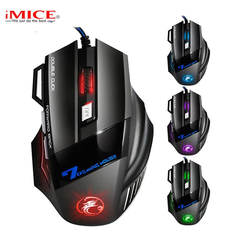 Profesional Doble Clic 7 Botones 3200 DPI Gaming Mouse USB