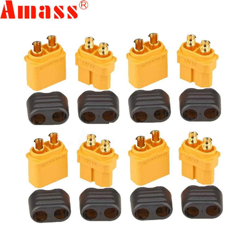 10 x Amass XT60+ Plug Connector With Sheath Housing 5