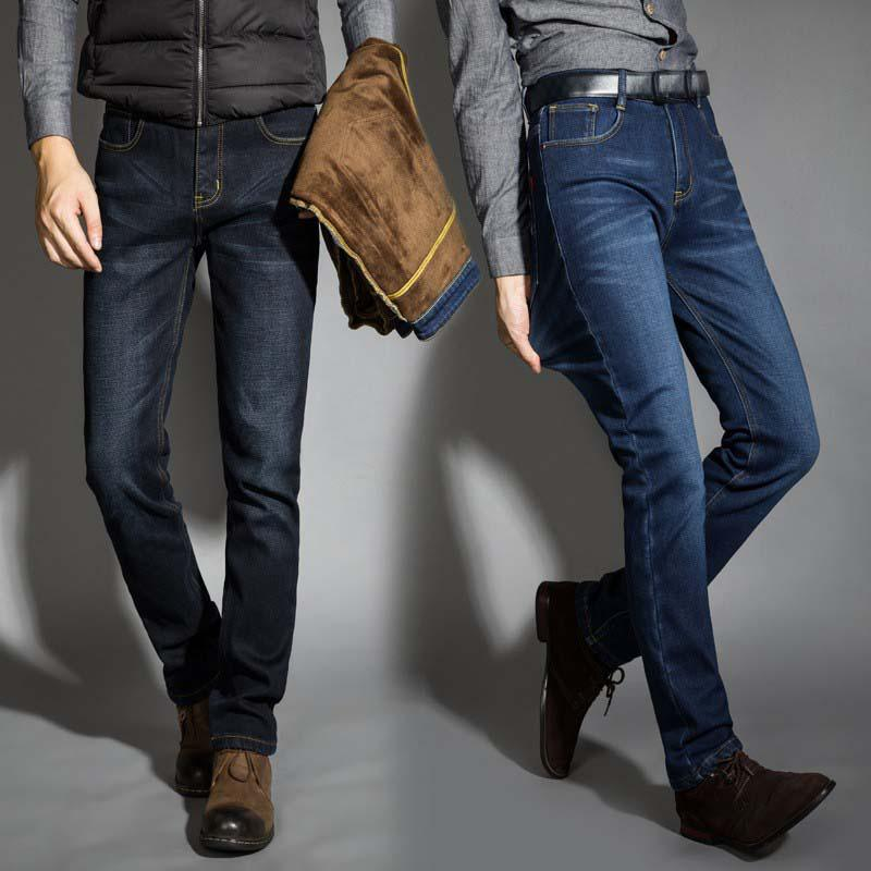 2017 New Men Activities Warm Jeans High Quality Famous Brand