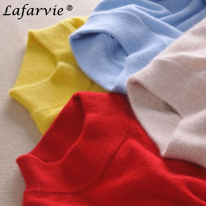 Lafarvie fashion cashmere blended strick pullover frauen tops herbst winter