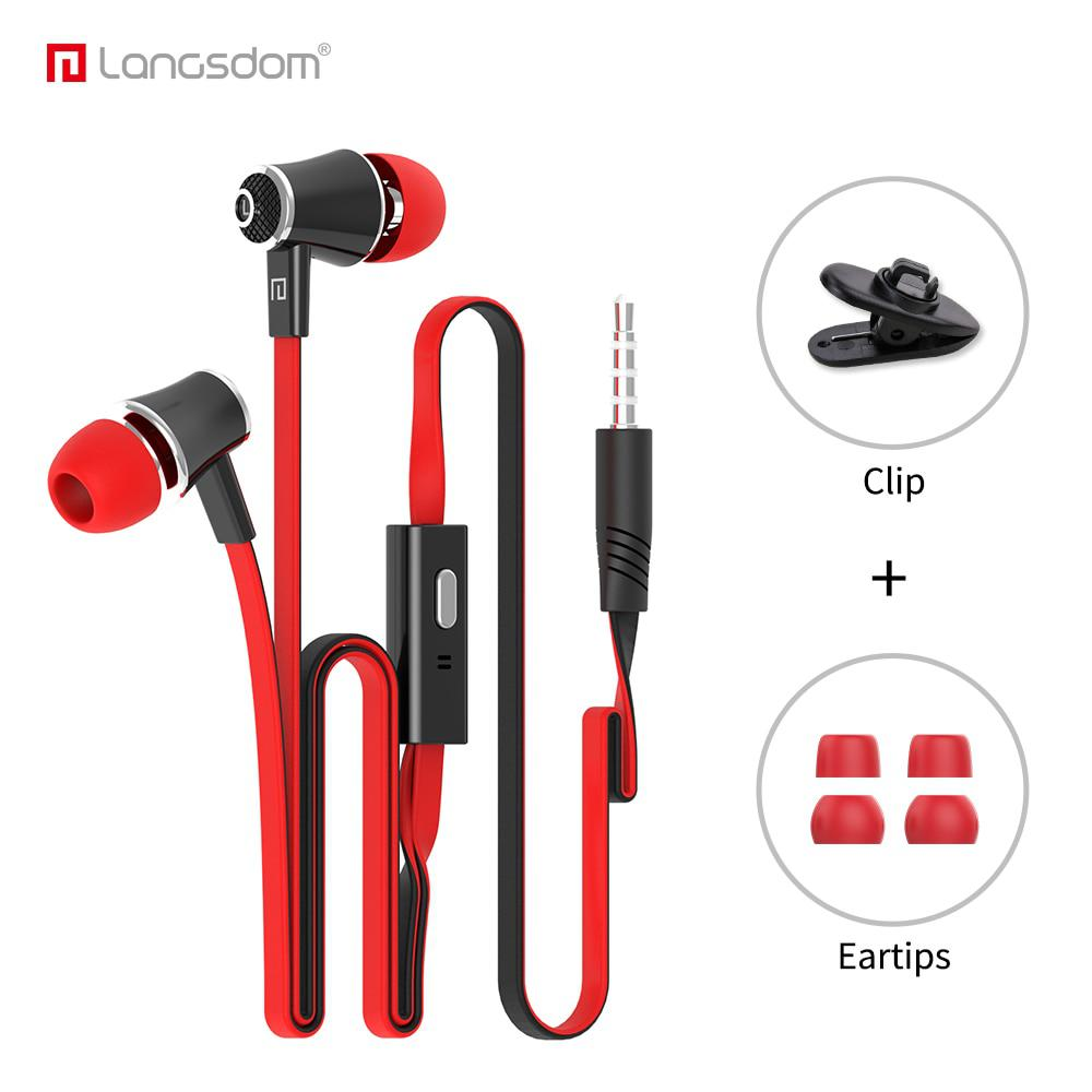 Official Original Langsdom JM21 In-ear Earphone Colorful Headset Hifi Earbuds