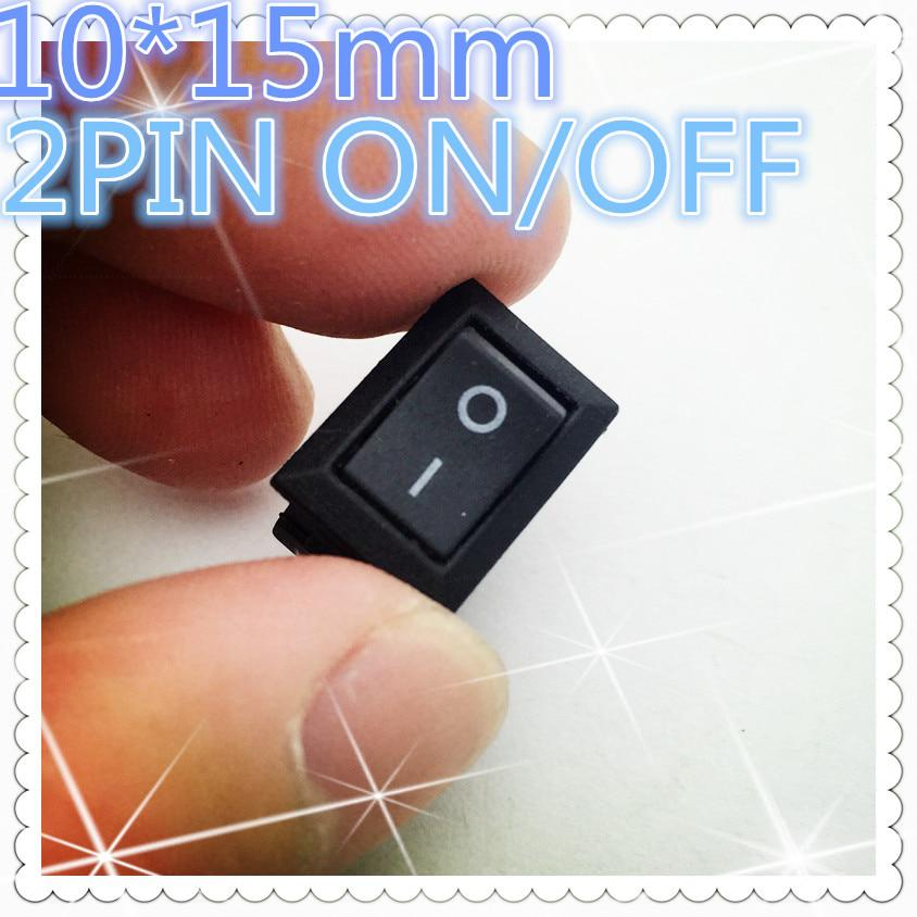 10 unids G130 10*15mm 2PIN SPST ON/OFF Boat Rocker Switch