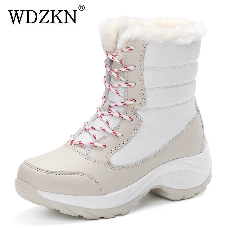 2017 women snow boots winter warm boots thick bottom platform
