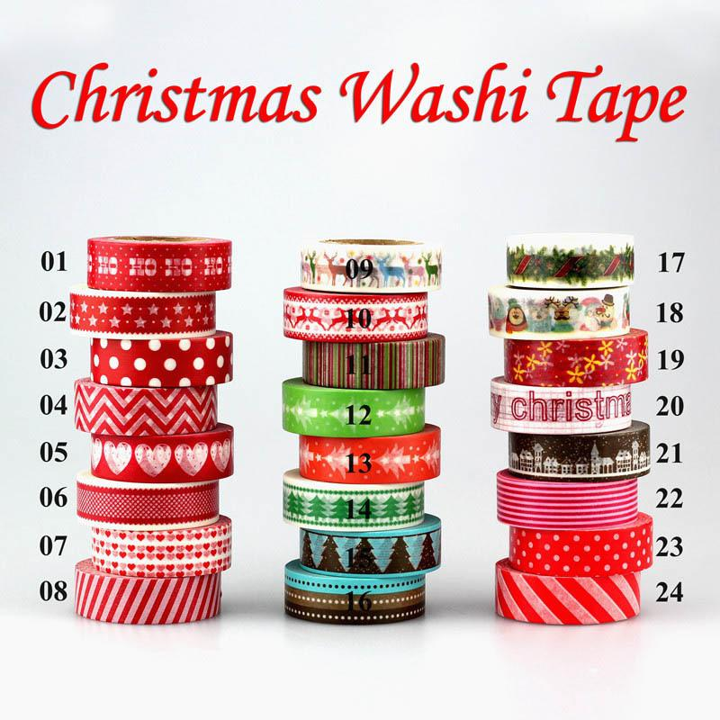 1pc Tape Christmas set red heart color Scrapbooking DIY Sticker