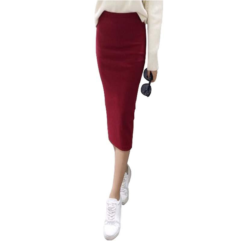 A Little Thick 2016 Autumn Sexy Chic Pencil Skirts Office