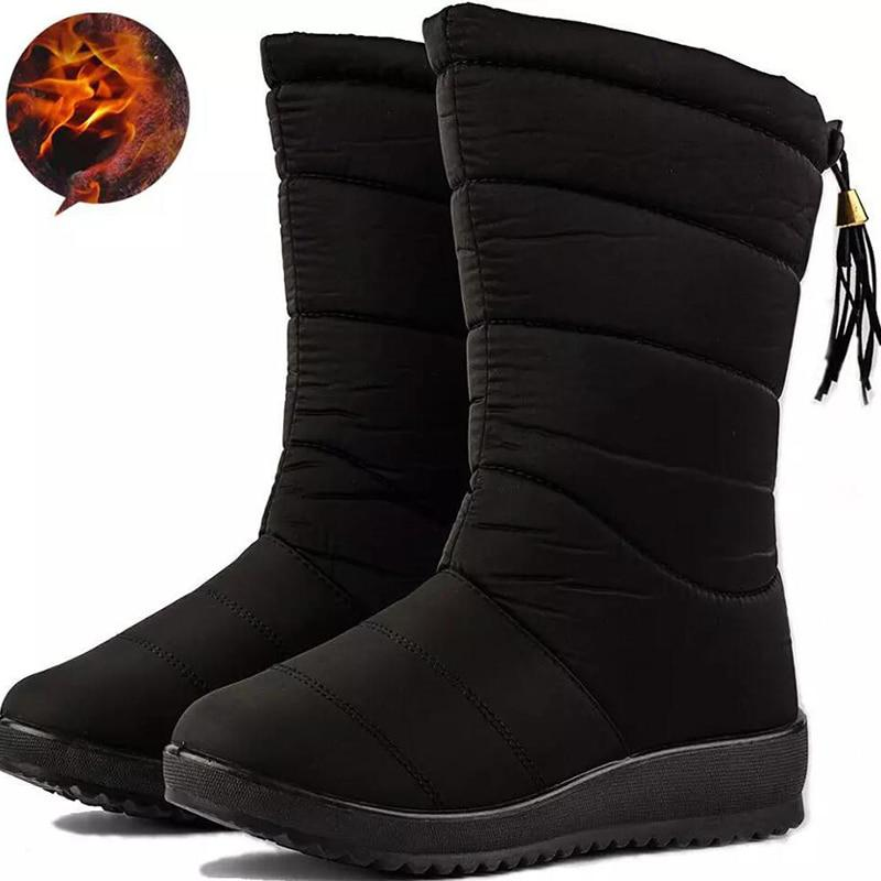 Fashion Women Boots Female Tassel Winter Ankle Boots Shoes Down