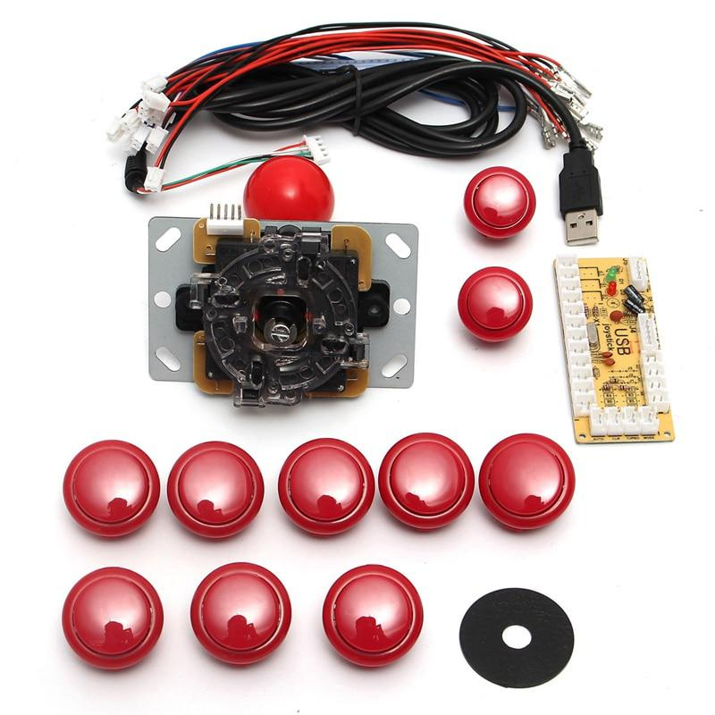 DIY mango del joystick de arcade kits set 5 pin