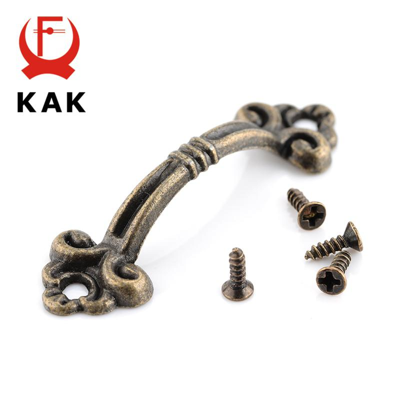 10pcs KAK Handles Knobs Pendants Flowers For Drawer Wooden Jewelry