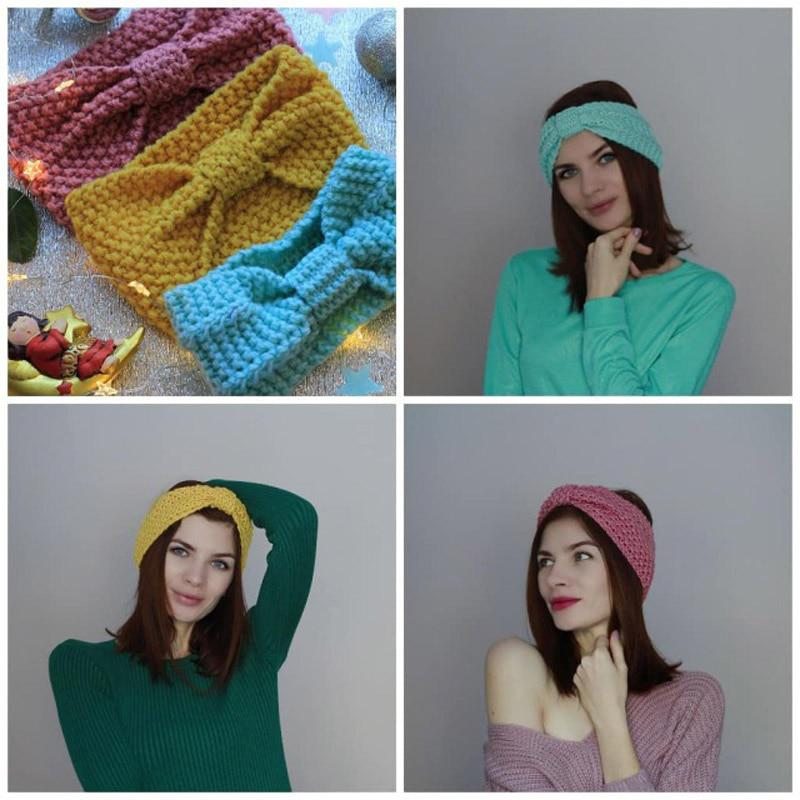 Winter Warmer Ear Knitted Headband Turban For Lady Women Crochet