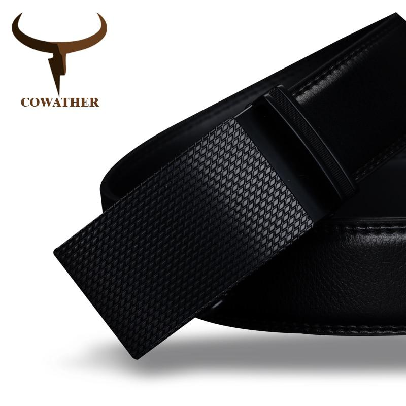 COWATHER Good mens belt luxury high quality cow genuine leather